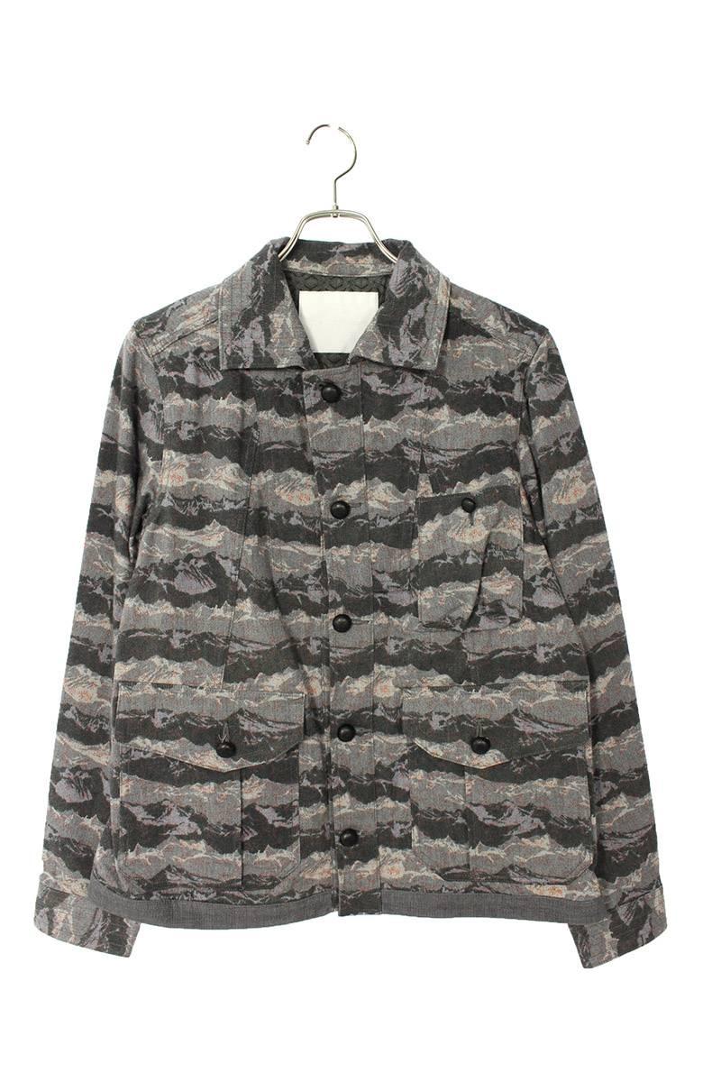 ダンガリーカモフラ柄カバーオールジャケット