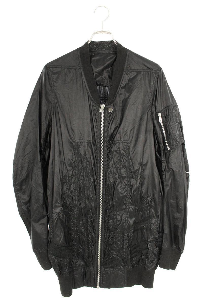 刺繍デザインナイロンボンバージャケット