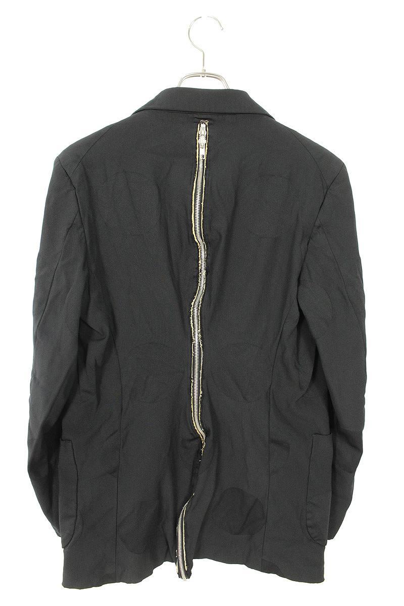 AD2014ポリ縮絨バックジップドットテーラードジャケット