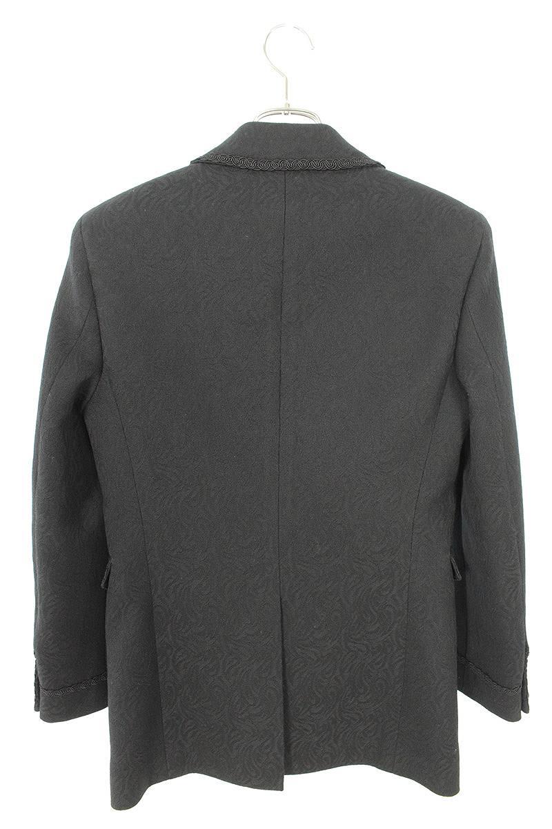 総柄デザインウールテーラードジャケット