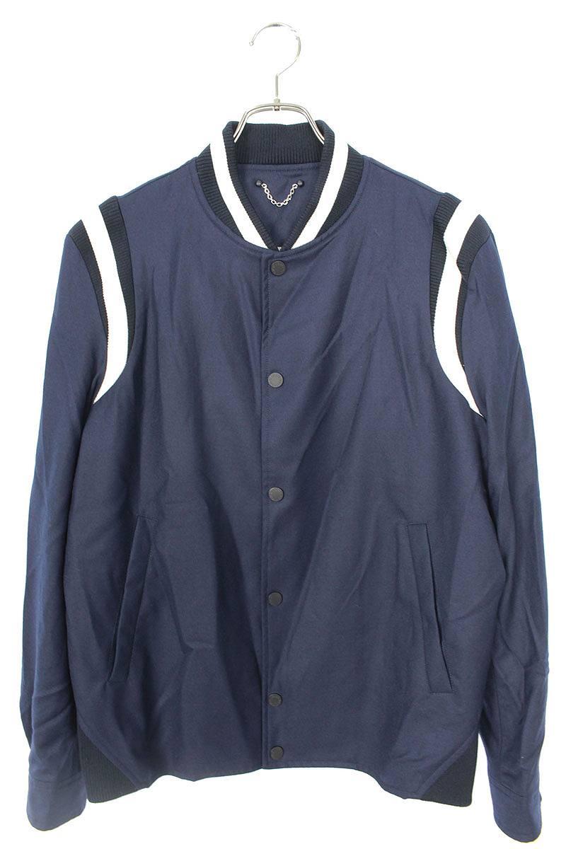 ヴァーシティバック刺繍ジャケット