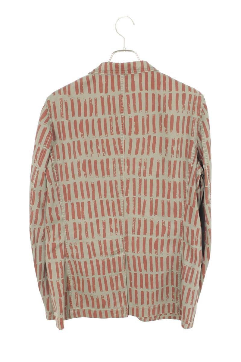 AD2007 総柄ピークドラペル1Bテーラードジャケット