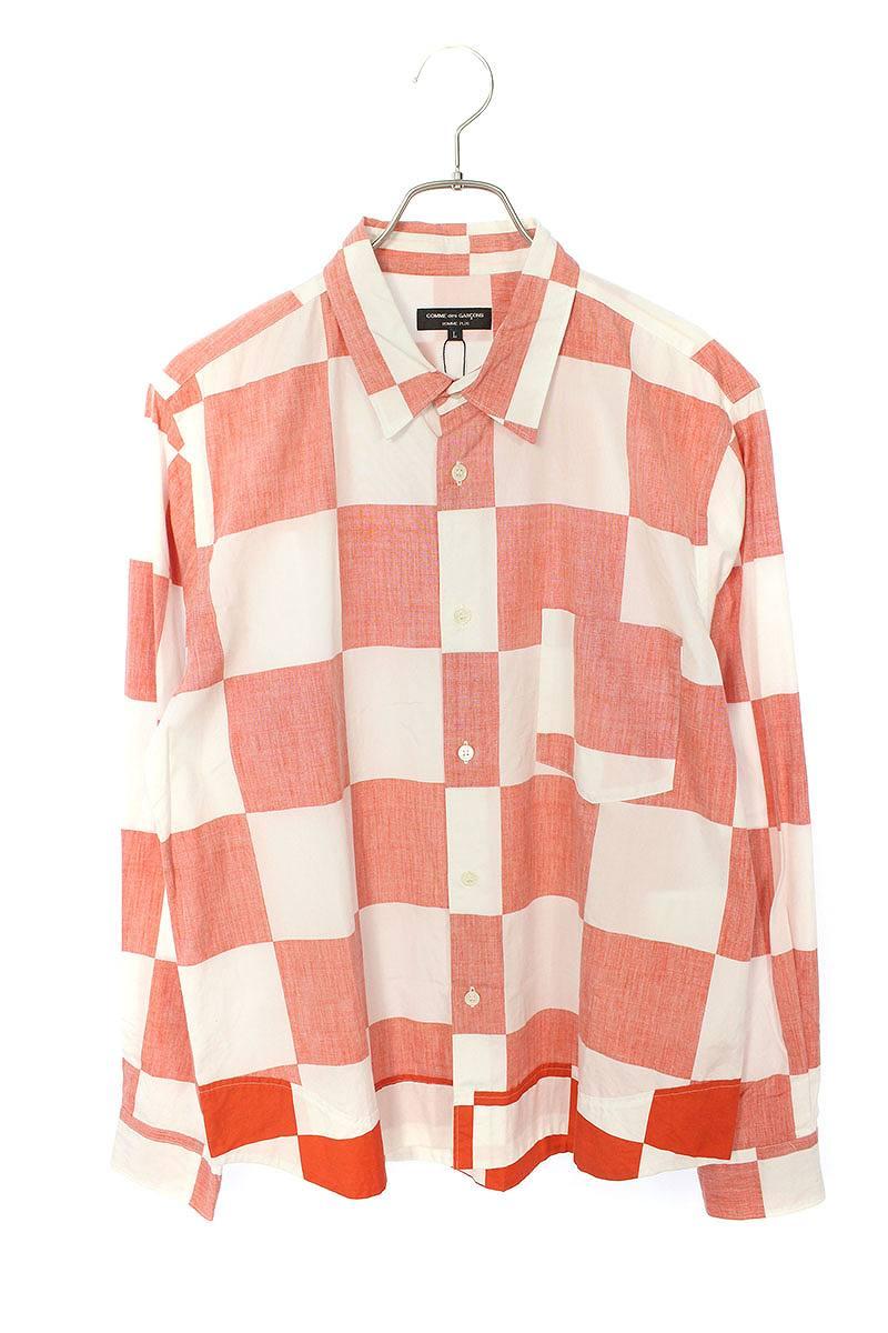 AD2001ブロックチェック柄ロングスリーブシャツ