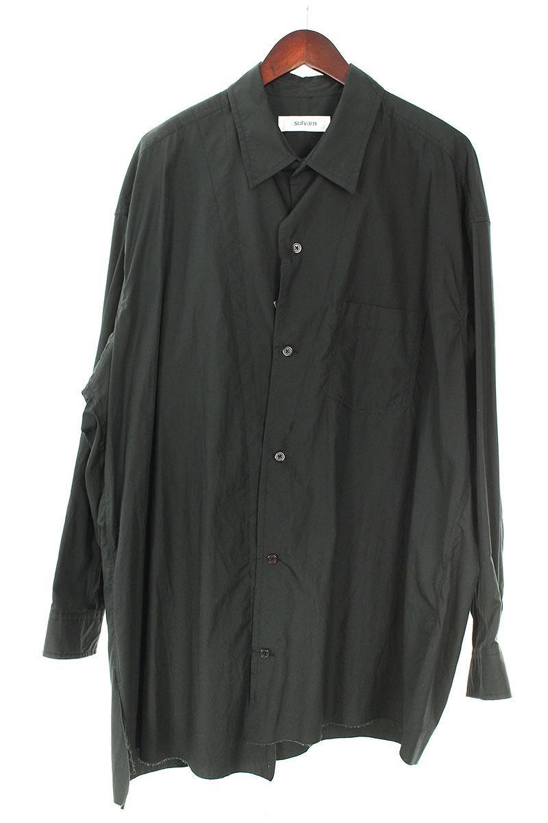 ステッチデザインオーバーサイズロングスリーブシャツ