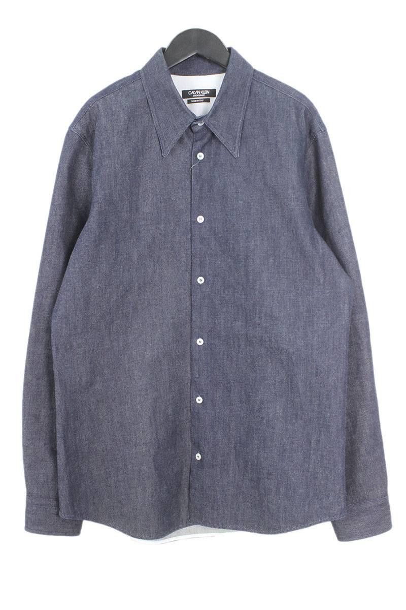 ワイドデニム長袖シャツ
