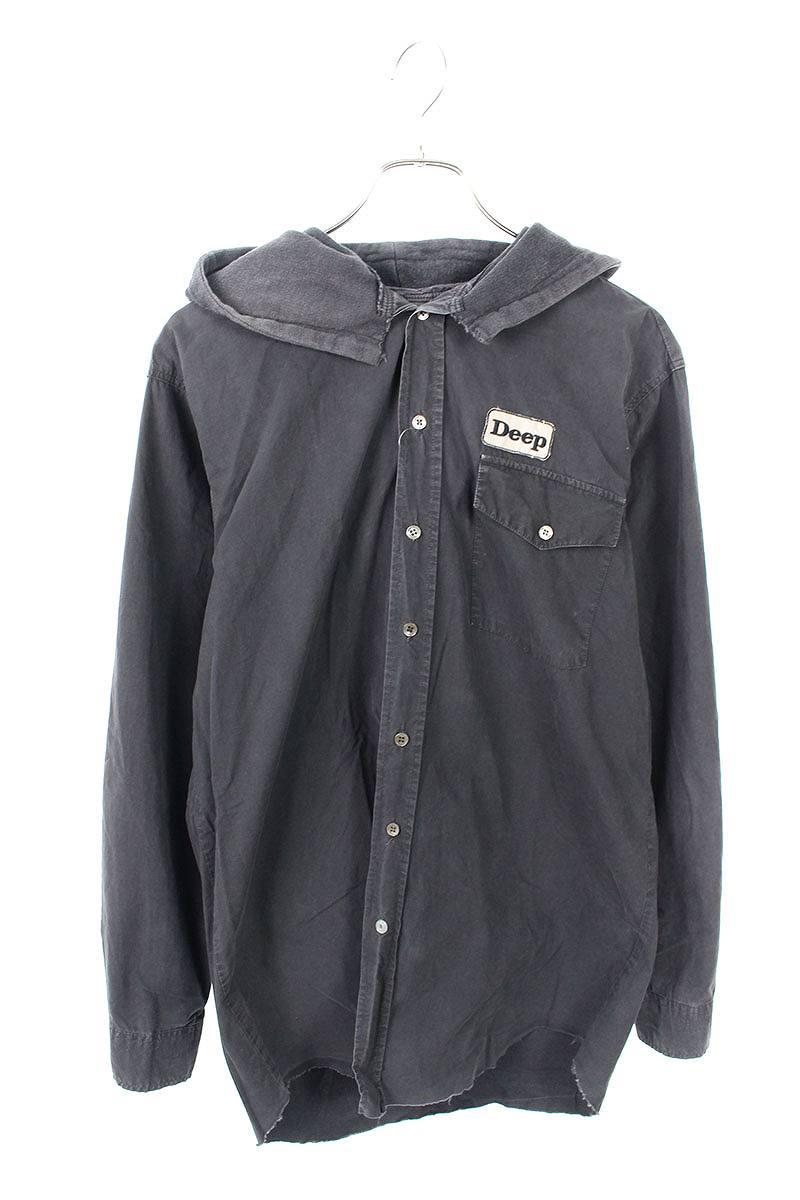 ワッペン付長袖シャツ