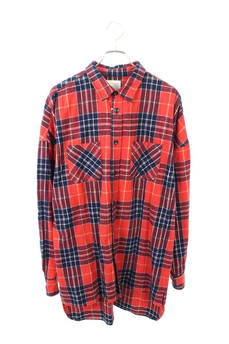 オーバーサイズチェック柄ネル長袖シャツ