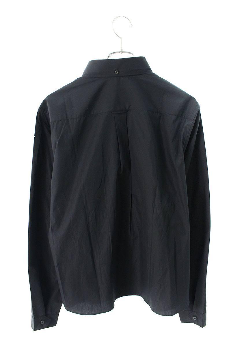 コーティングプリント長袖シャツ