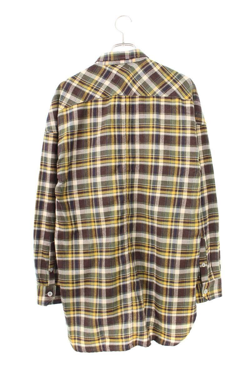 オーバーサイズチェック柄長袖シャツ