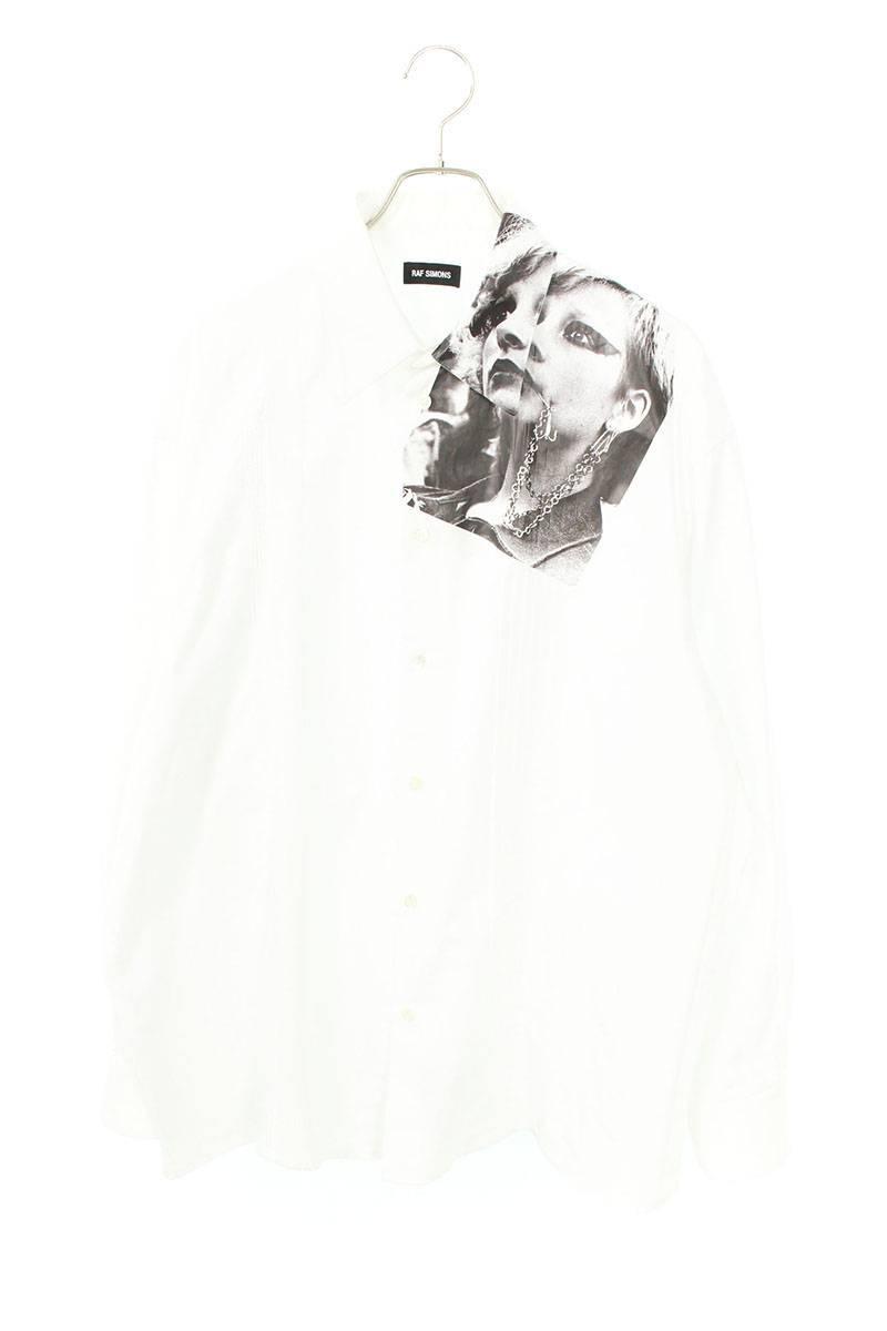 フォトプリント長袖シャツ