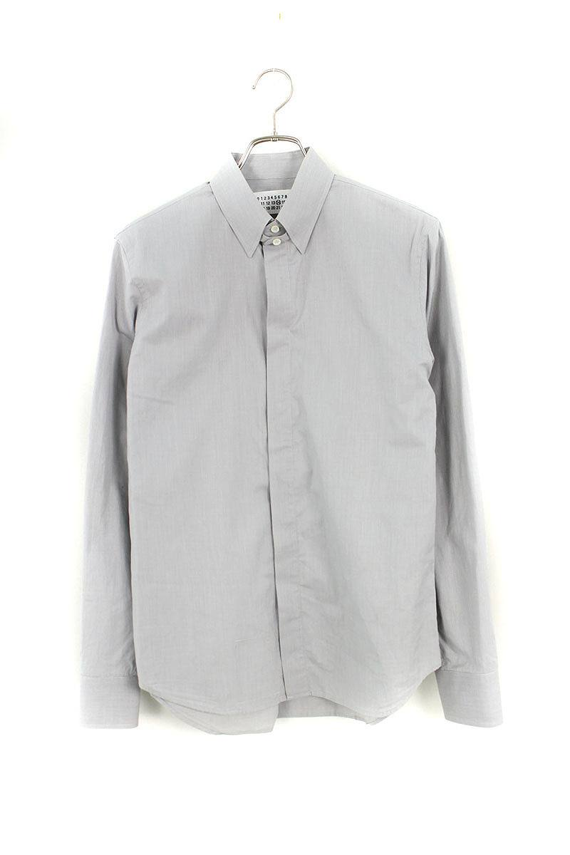 タブカラー長袖シャツ