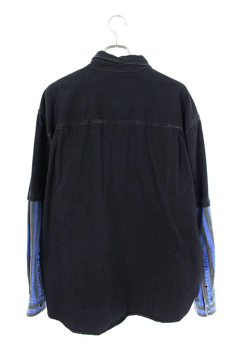 ダブルスリーブオーバーサイズデニムシャツ