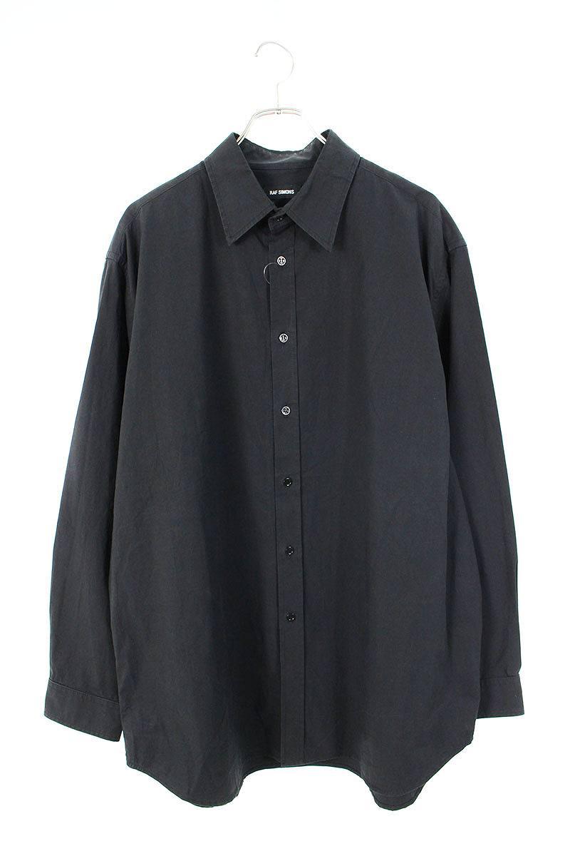 テープデザインオーバーサイズ長袖シャツ