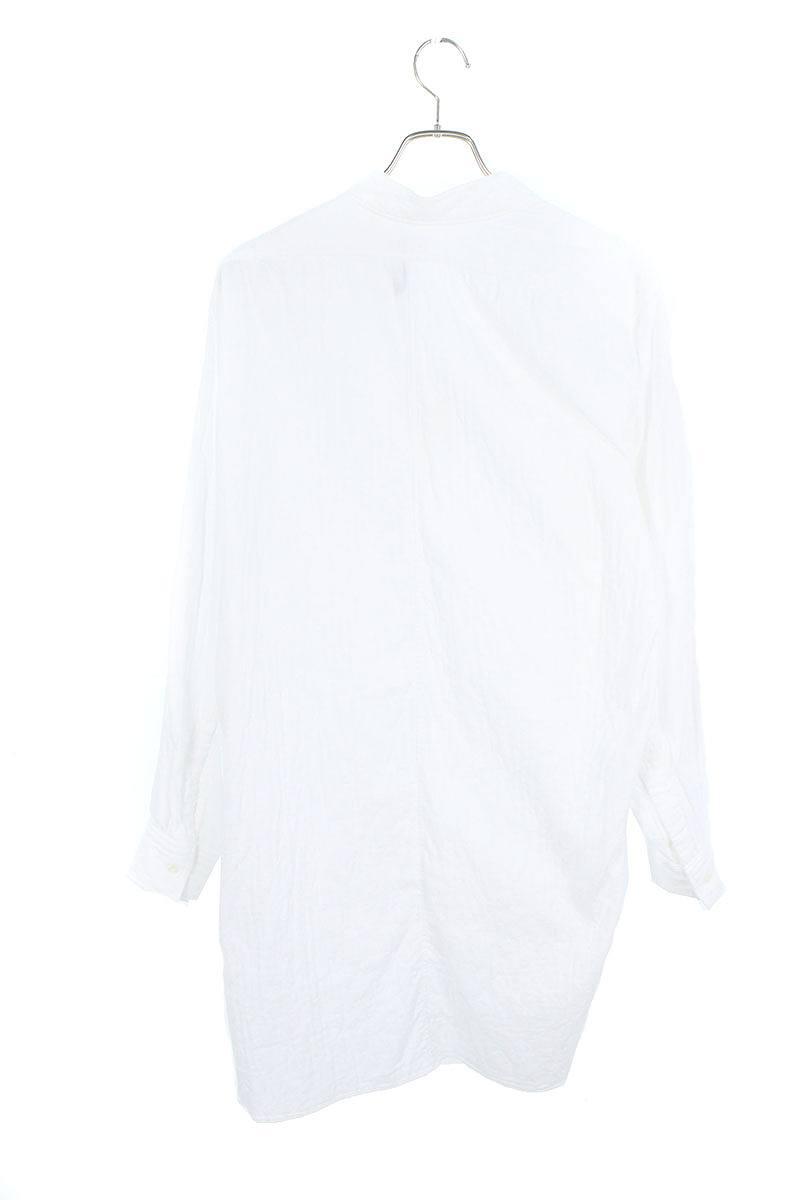 アシンメトリックロング長袖シャツ