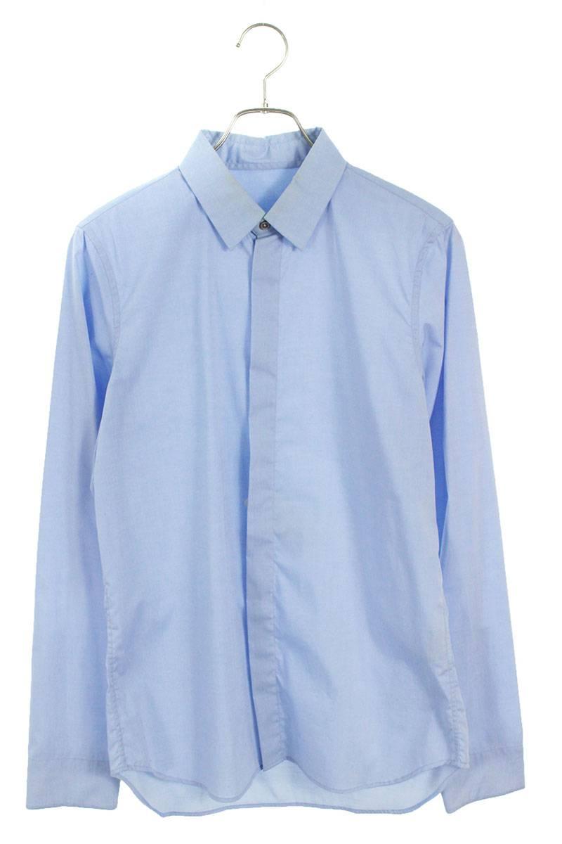 比翼ボタン長袖シャツ