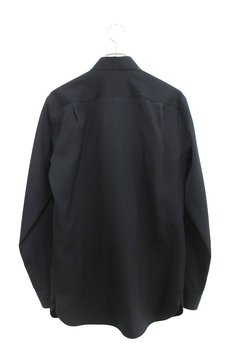 エンブレムボタンダブルポケット長袖シャツ