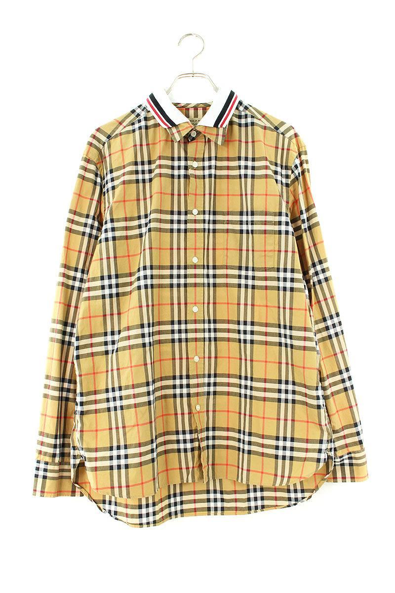 レイヤードカラーノバチェック長袖シャツ