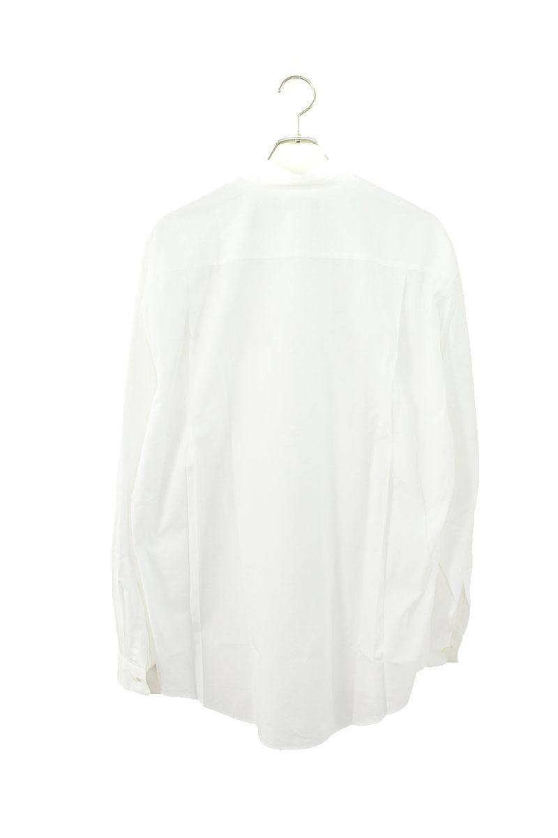 ノーカラーオーバーサイズ長袖シャツ