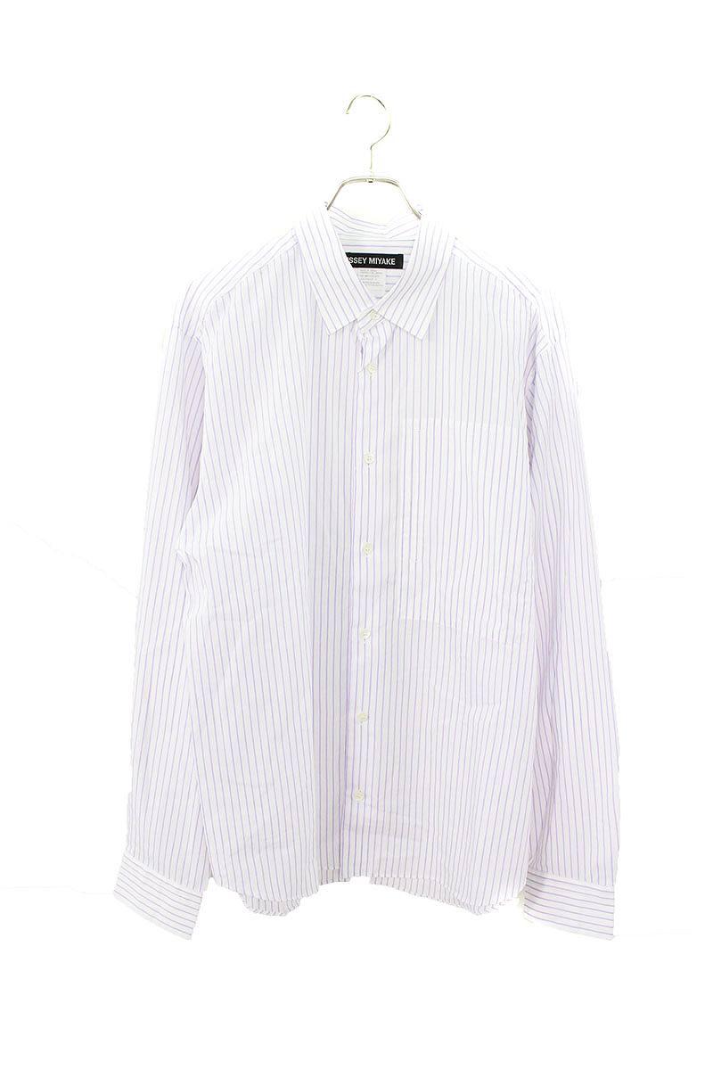 ストライプオーバーサイズ長袖シャツ