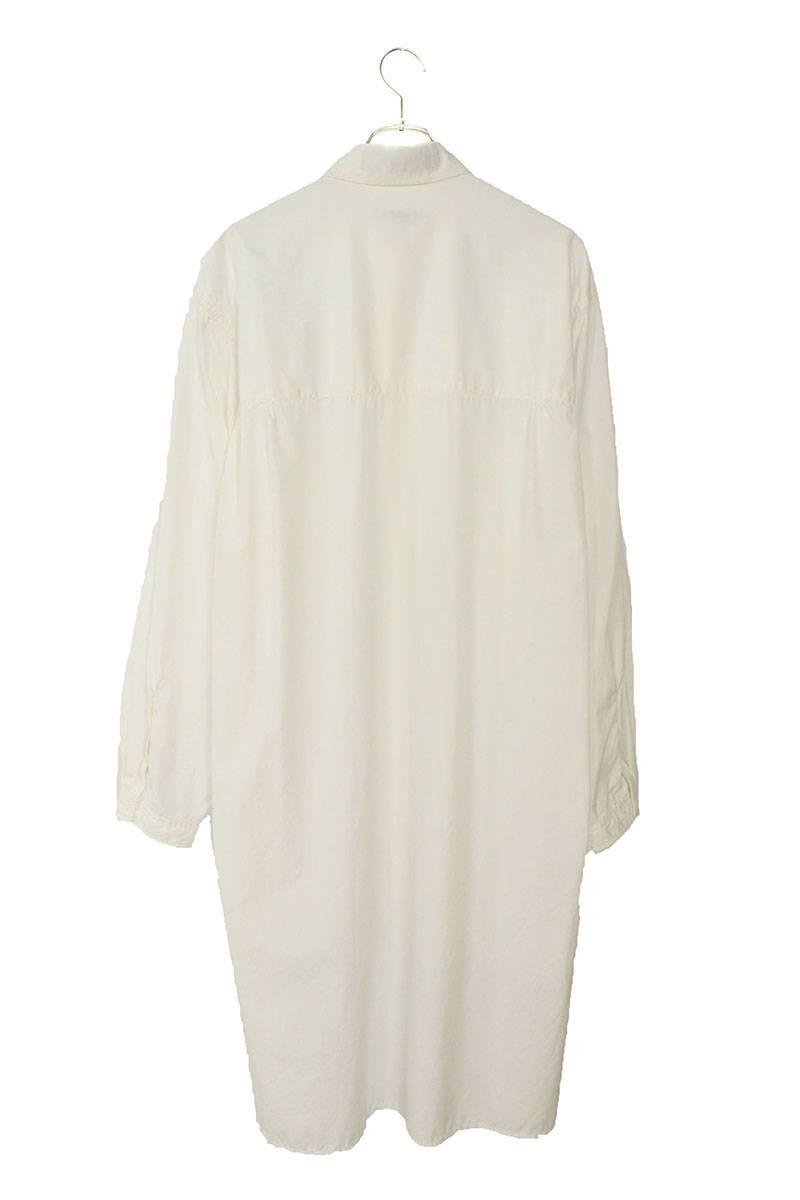 環縫いブロード長袖シャツ
