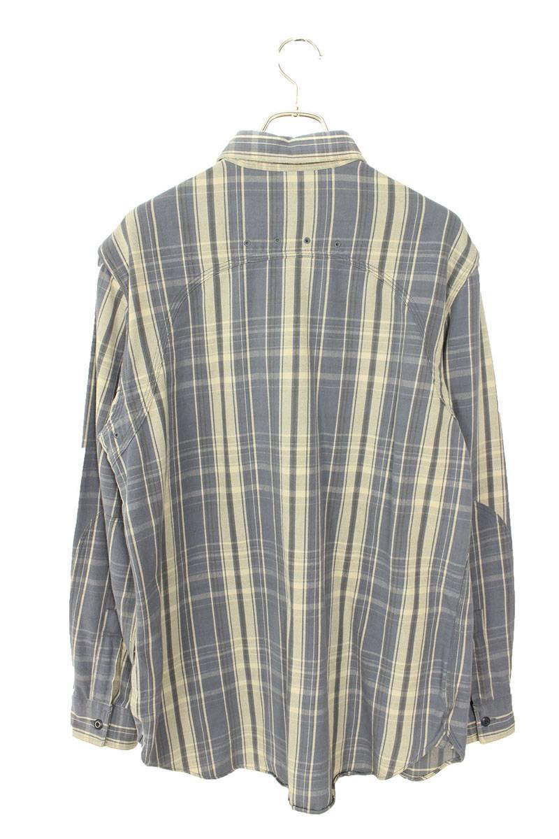 チェック長袖シャツ