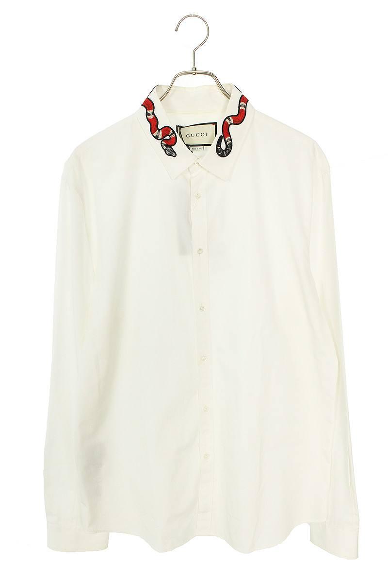 スネーク刺繍長袖シャツ