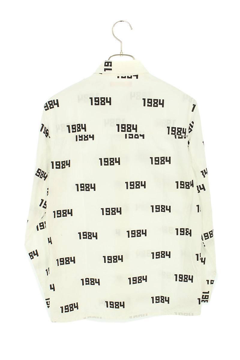1984プリント長袖シャツ