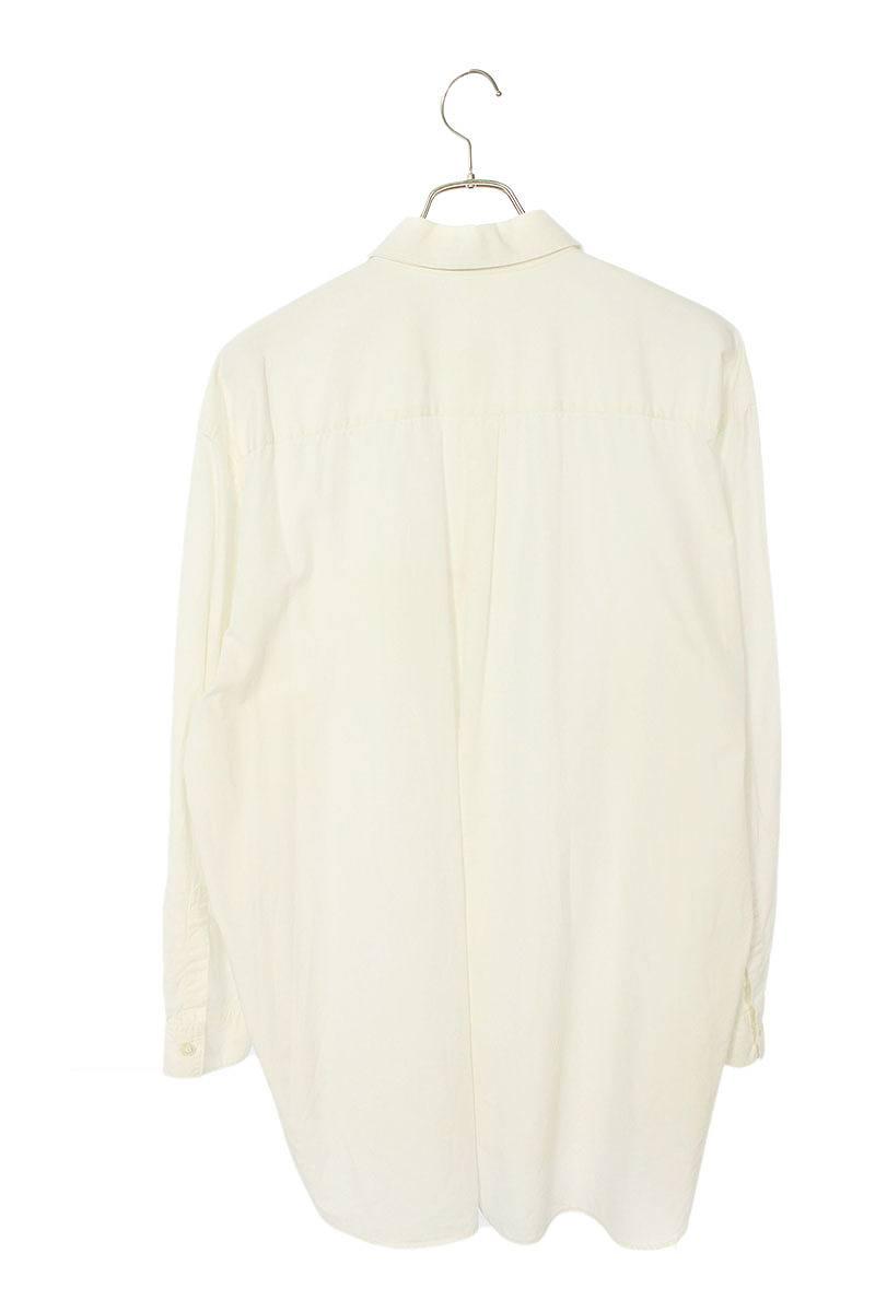 3枚襟オーバーサイズコットン長袖シャツ