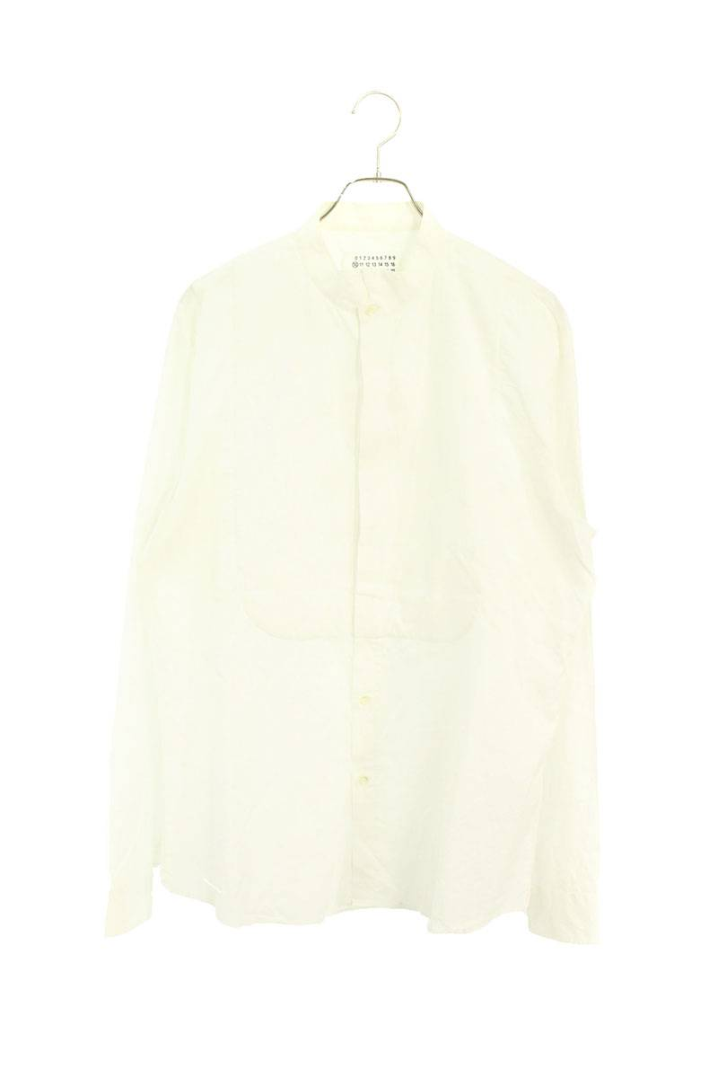 ウィングカラー長袖シャツ