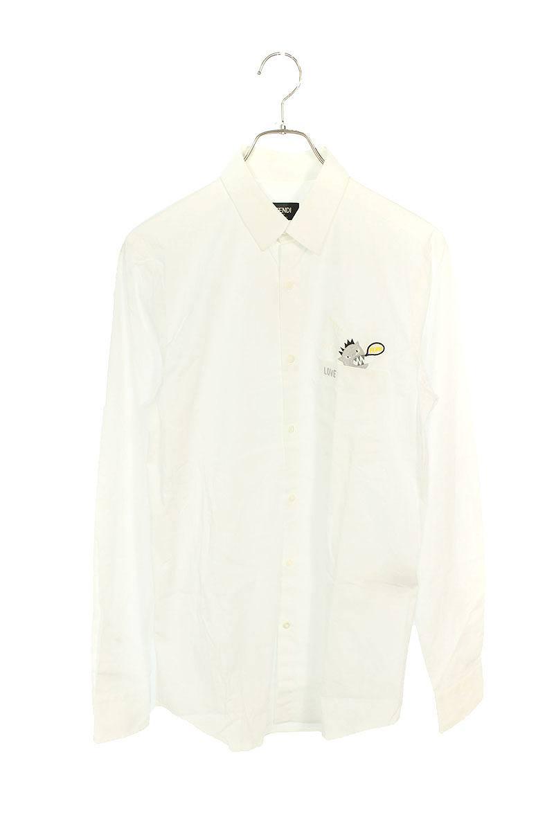 モンスター刺繍ドレス長袖シャツ