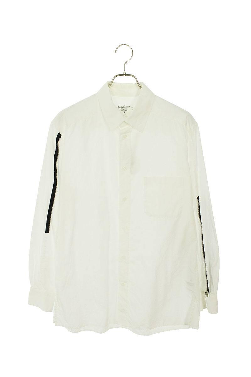 ジップデザイン長袖シャツ