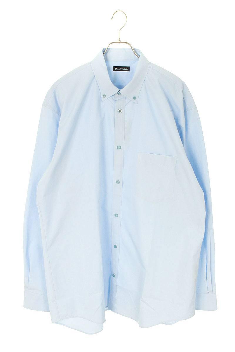 バックロゴプリントオーバーサイズ長袖シャツ