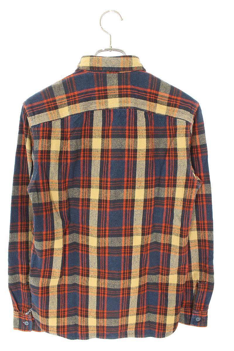 コットンチェック長袖シャツ