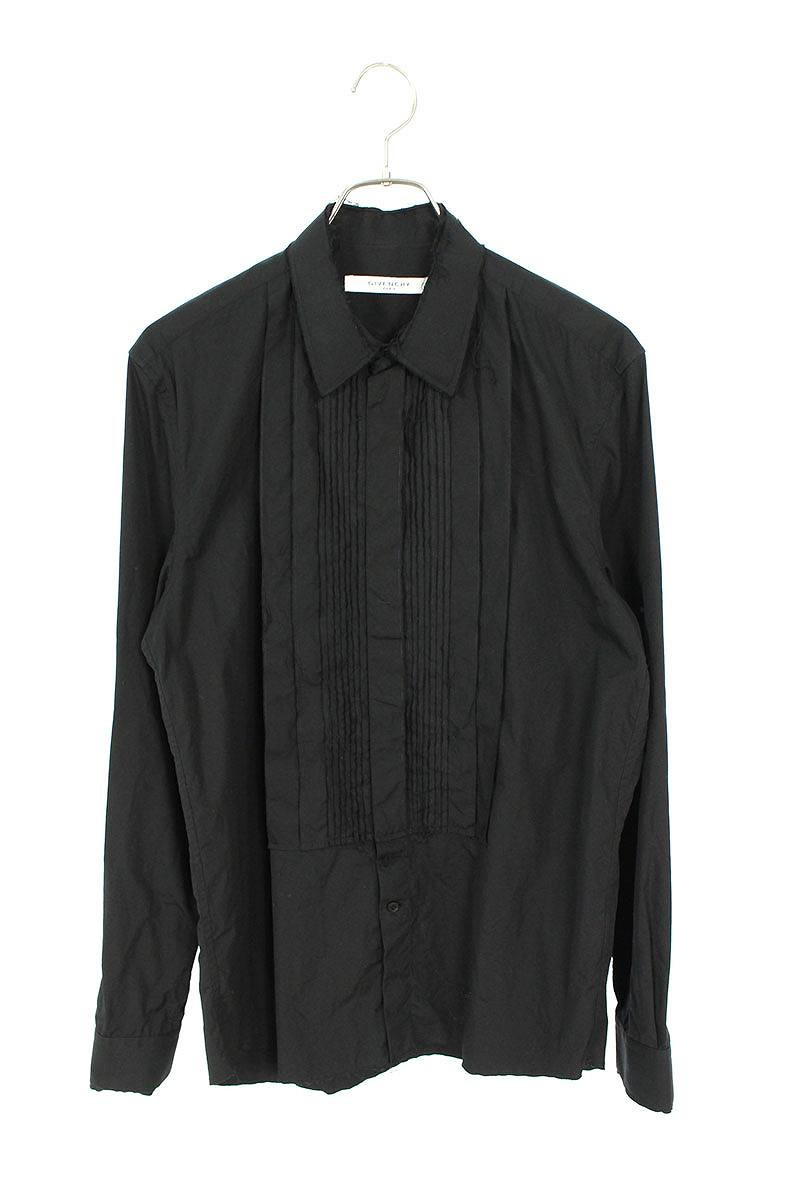カットオフデザイン長袖シャツ