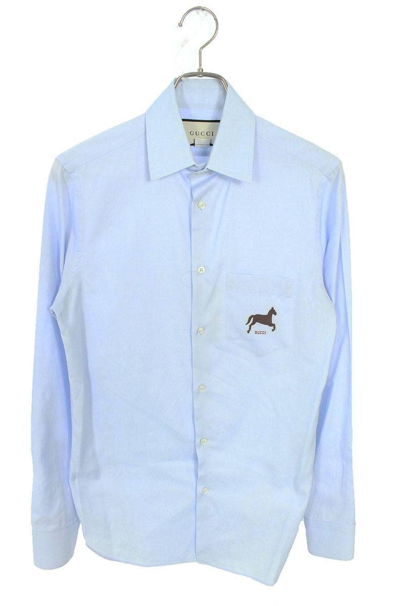 ホースプリント長袖シャツ