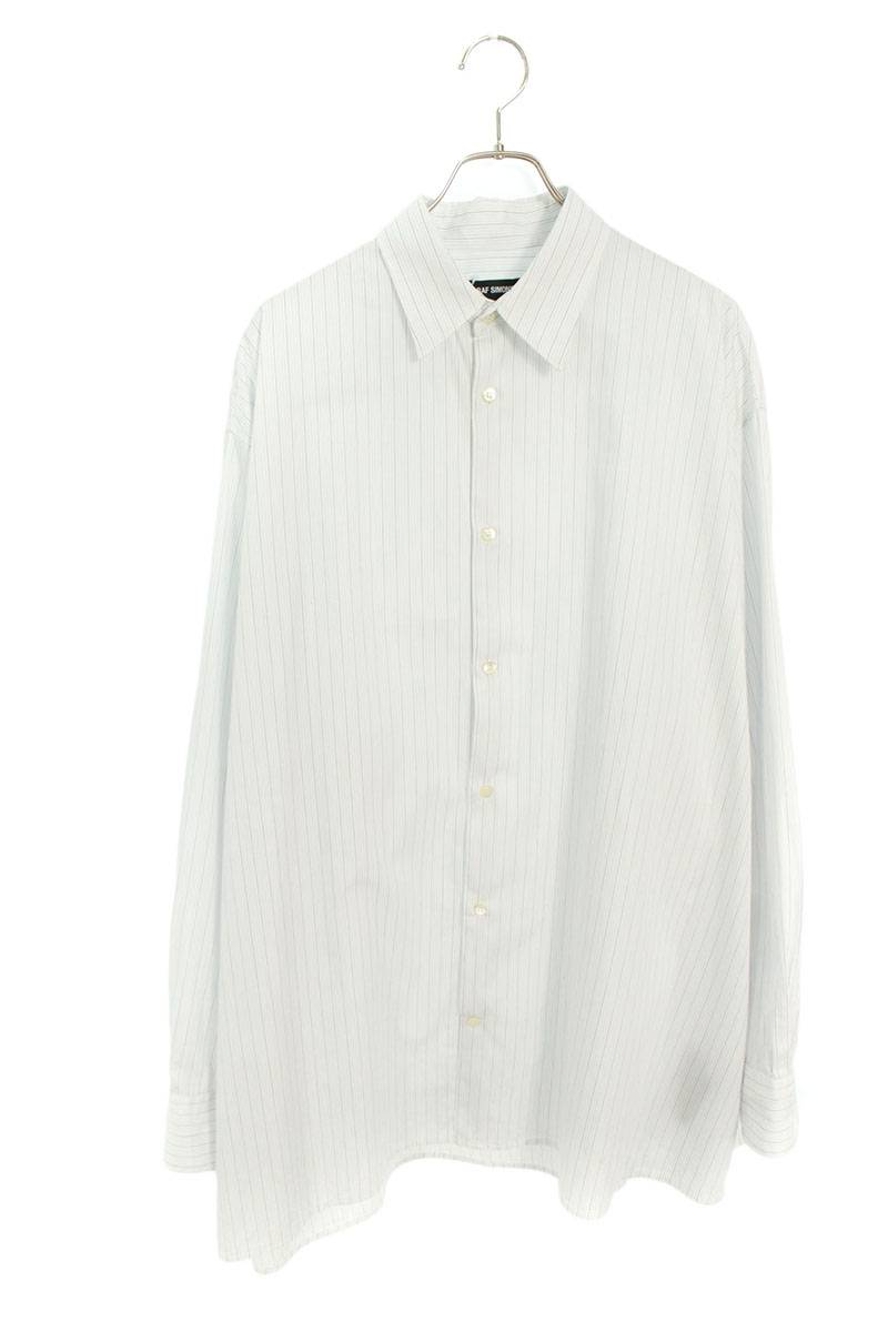 オーバーサイズストライプ長袖シャツ