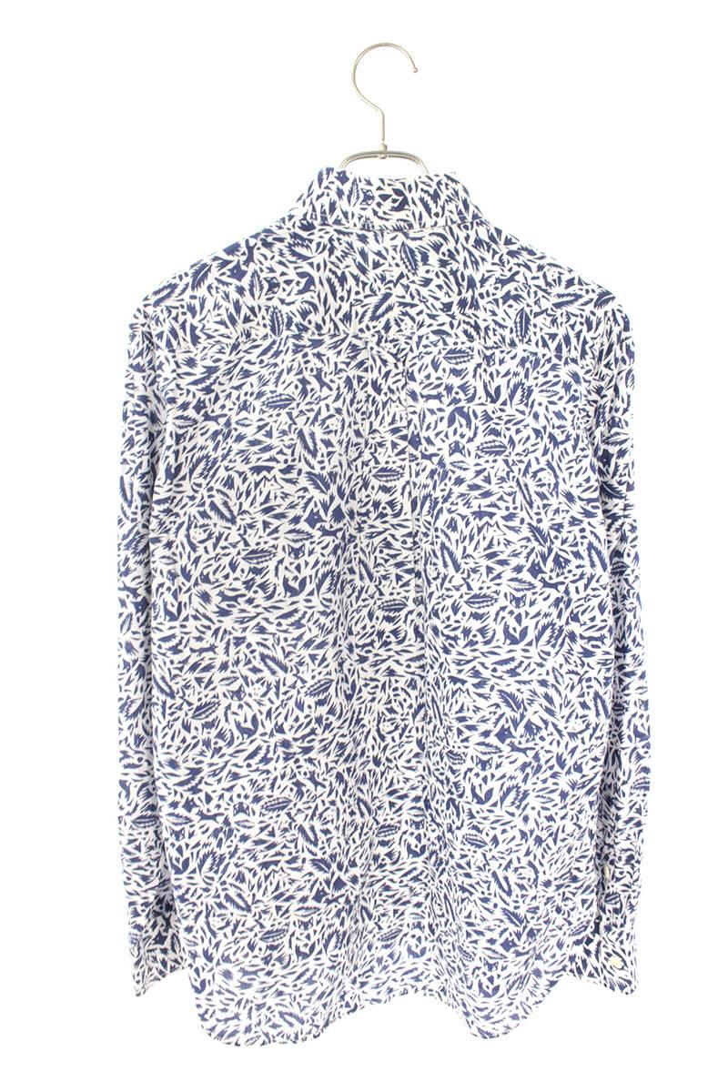 総柄長袖シャツ