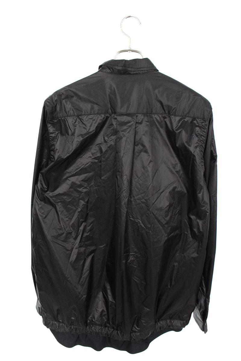 ドローストリングナイロン長袖シャツ