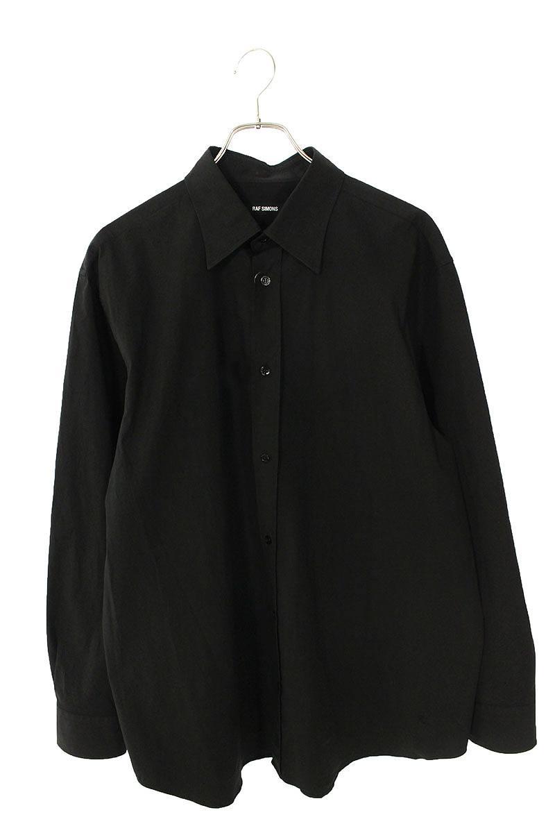 バック刺繍オーバーサイズ長袖シャツ
