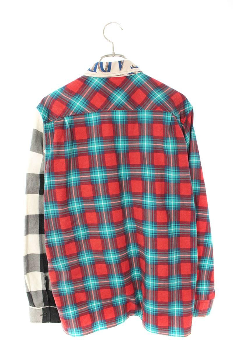 フランネルチェックジップアップ長袖シャツ
