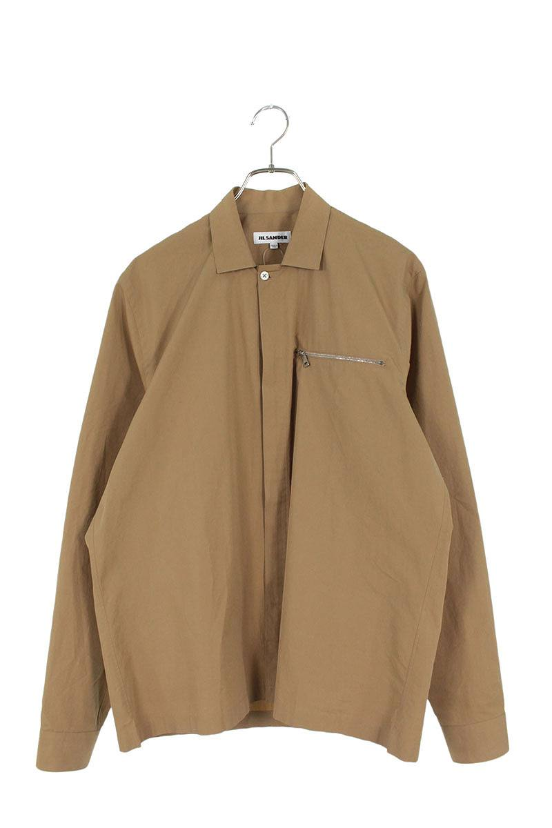 ジップアップ長袖シャツ