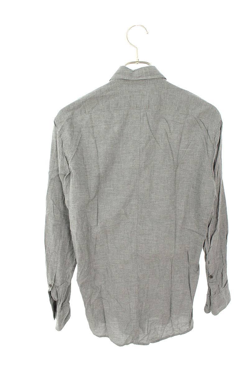 プレーン胸ポケット長袖シャツ