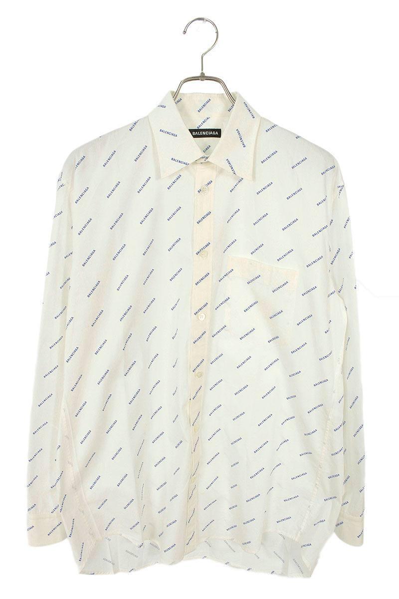 ロゴ総柄長袖シャツ