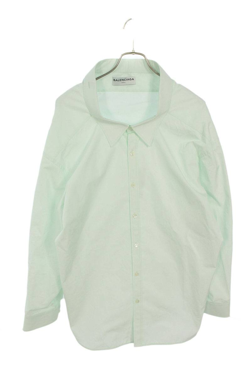 スウィングカラーオーバーサイズ長袖シャツ