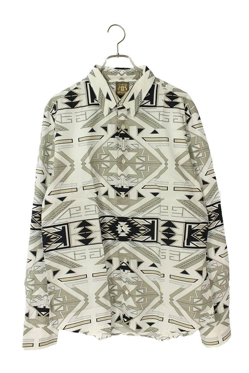 ジオメトリック柄長袖シャツ