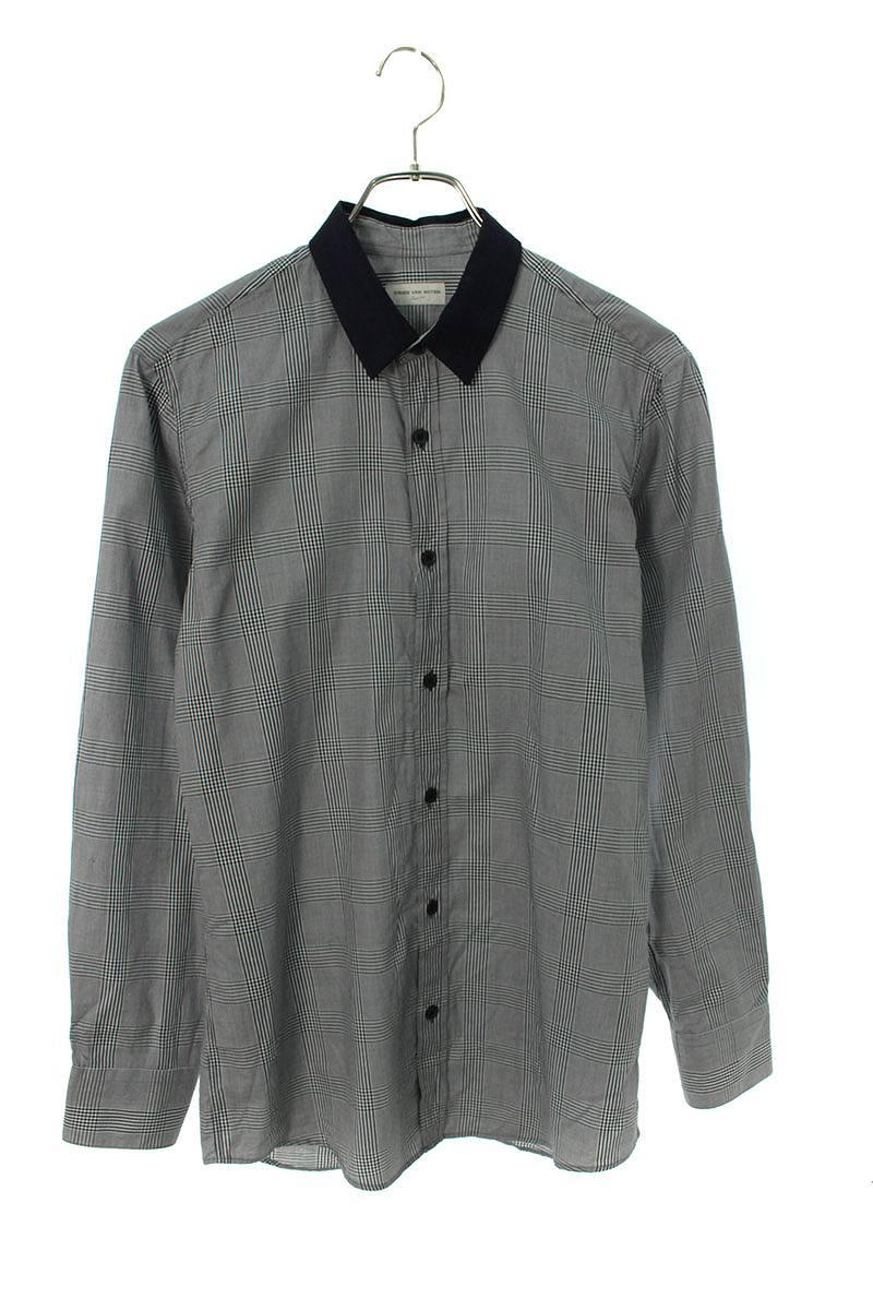 カラー切替長袖シャツ