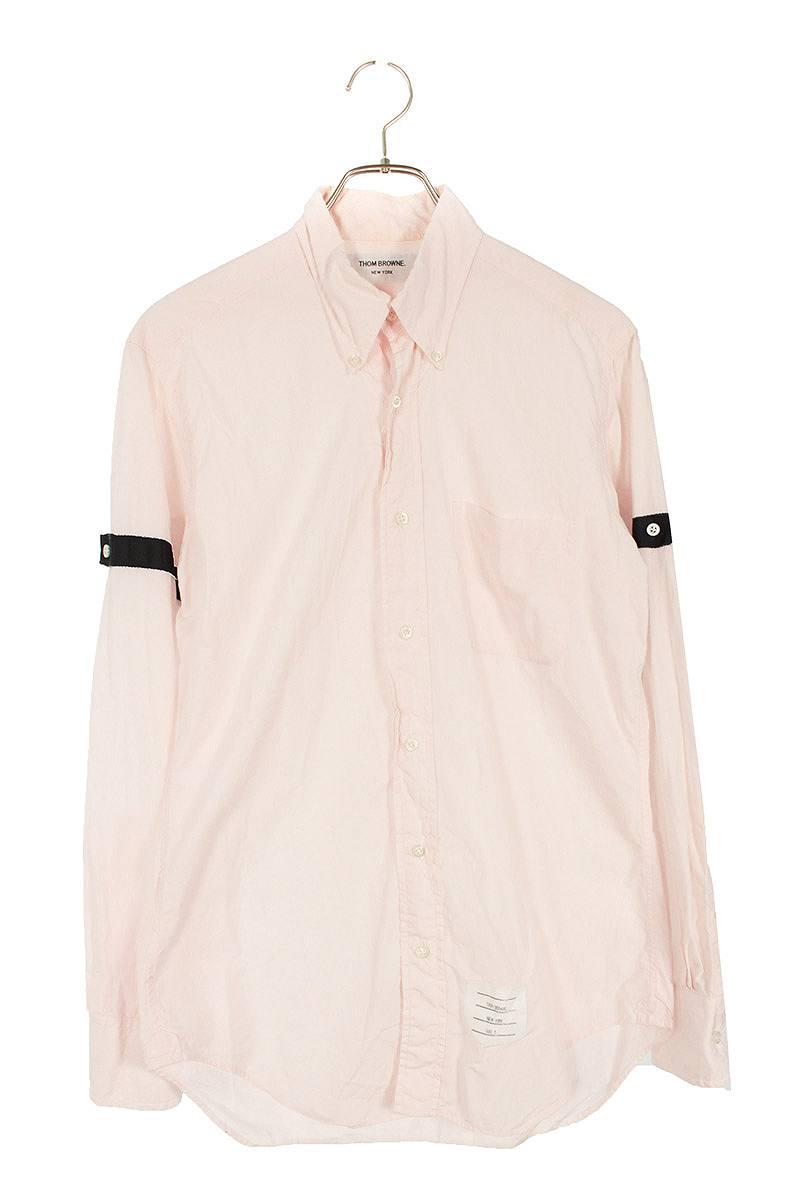 ボタンダウン袖テープ長袖シャツ