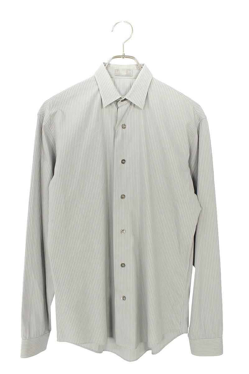 ストライプ長袖シャツ