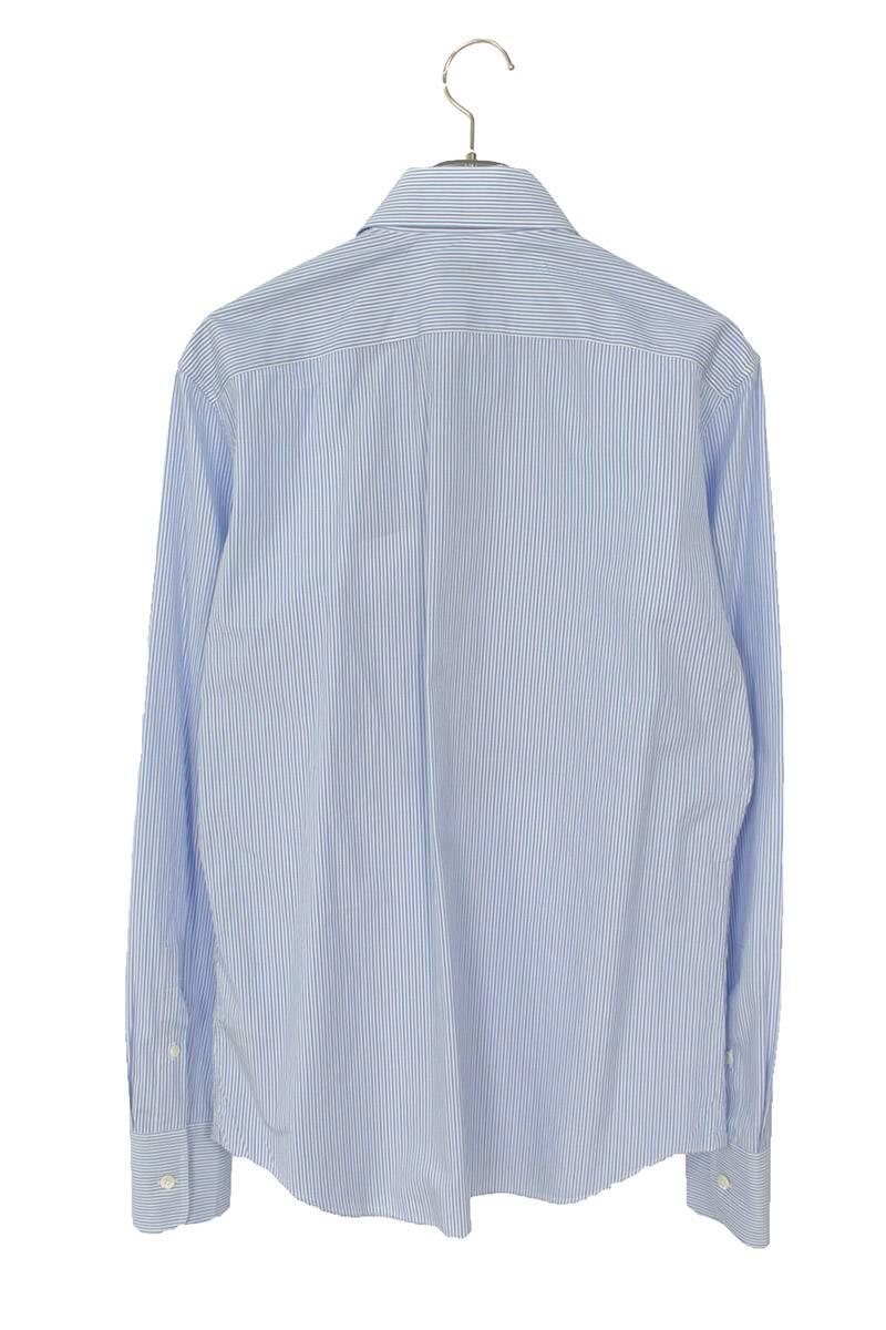ストライプ柄長袖シャツ