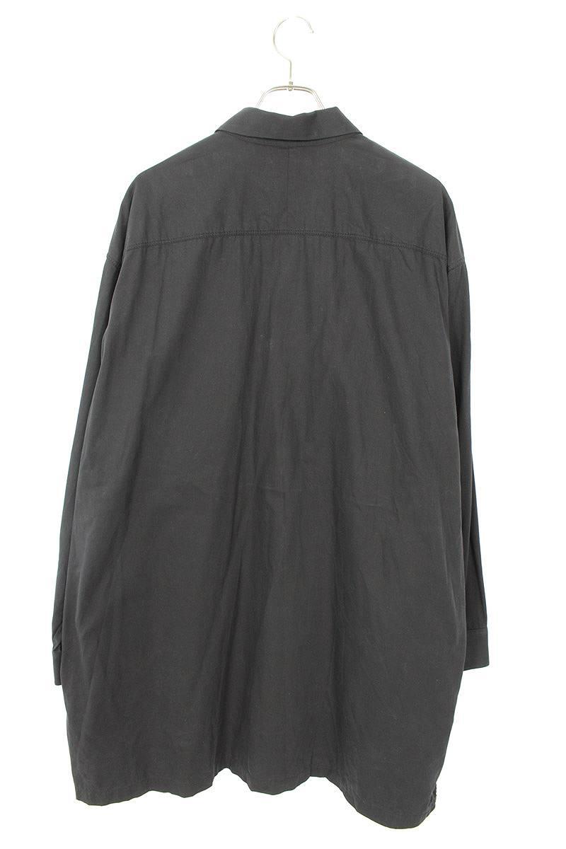 オーバーサイズミリタリー長袖シャツ